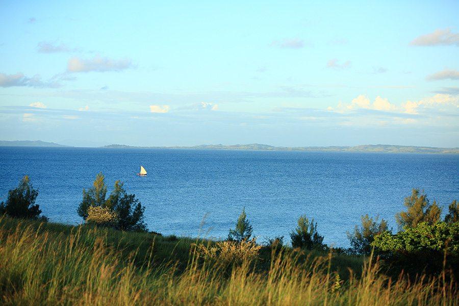 Paysage romantique de l'île