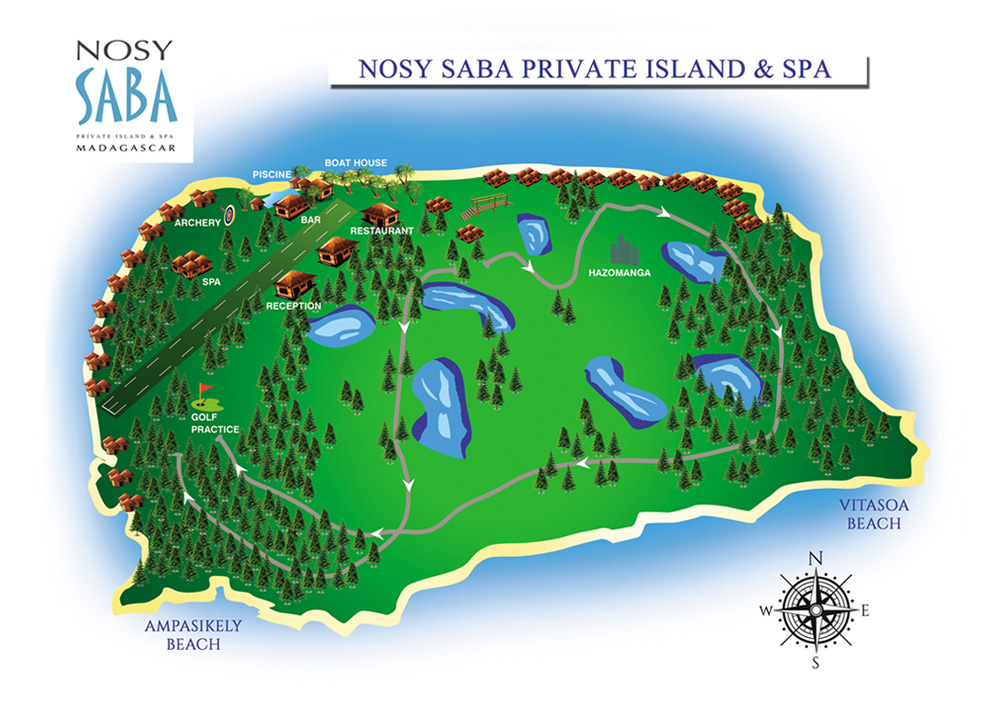 Plan de Nosy Saba Private Island & Spa